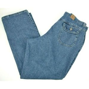 Lee Riders Straight Leg Blue Jeans 100% Cotton
